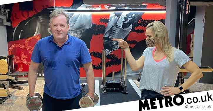 Piers Morgan hits the gym to get fighting fit following 'death threats' from 'Covidiot' trolls