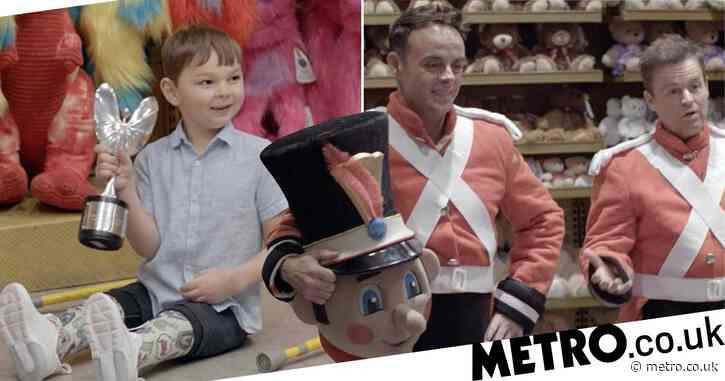 Ant and Dec surprise six-year-old fundraiser Tony Hudgell with Pride Of Britain award