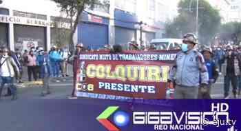 Marcha de Trabajadores Mineros de Colquiri exige esclarecer la muerte de Orlando Gutiérrez - eju.tv