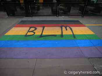 'It has only brought us closer': Pride crosswalks to be repainted following 'BLM' spray-paint - Calgary Herald