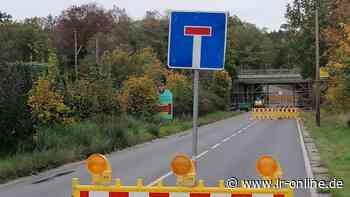 B 101 in Elsterwerda: Vollsperrung der Bundesstraße wird aufgehoben - Lausitzer Rundschau