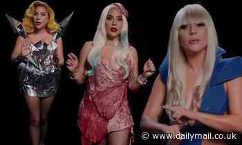 Lady Gaga slips back into her infamous VMA meat dress to encourage people to vote
