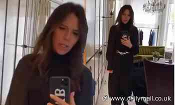 Victoria Beckham poses in flattering black midi dress for date night with husband David