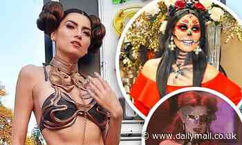 Halloween came early! Stars slip into their costumes