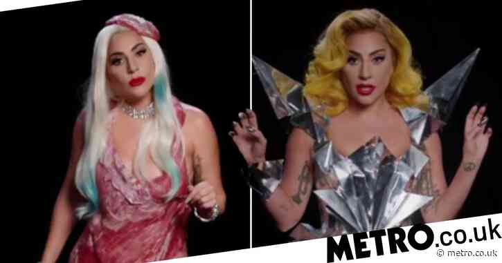 Lady Gaga dons her most iconic outfits in voting PSA ahead of the US election