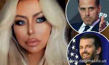 Aubrey O'Day teases she wants 'swoop up' Hunter Biden nine years after her affair with Trump Jr.