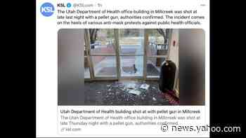 Public health building shot with pellet gun after protests at homes of Utah officials