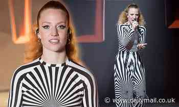Jess Glynn channels Beetlejuice as she performs at McDonald's I'm Loving it Live musical festival