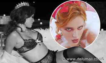 Bella Thorne sulks around house in sultry lingerie for thirst-driven Lonely music video