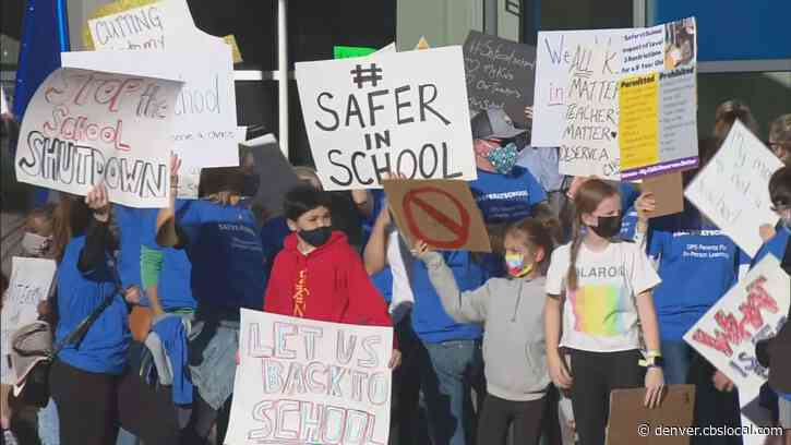 Denver Public Schools Parents Protest Return To Remote Learning For 3rd, 4th, 5th Graders