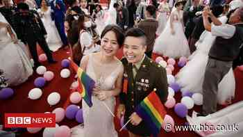 Taiwan's military includes same-sex couples in wedding for first time