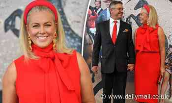 Samantha Armytage STUNS in show-stopping red gown at the races in Sydney