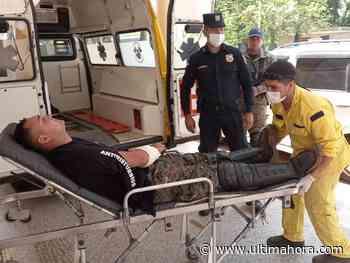 Un policía resulta herido durante desalojo en Caaguazú - ÚltimaHora.com