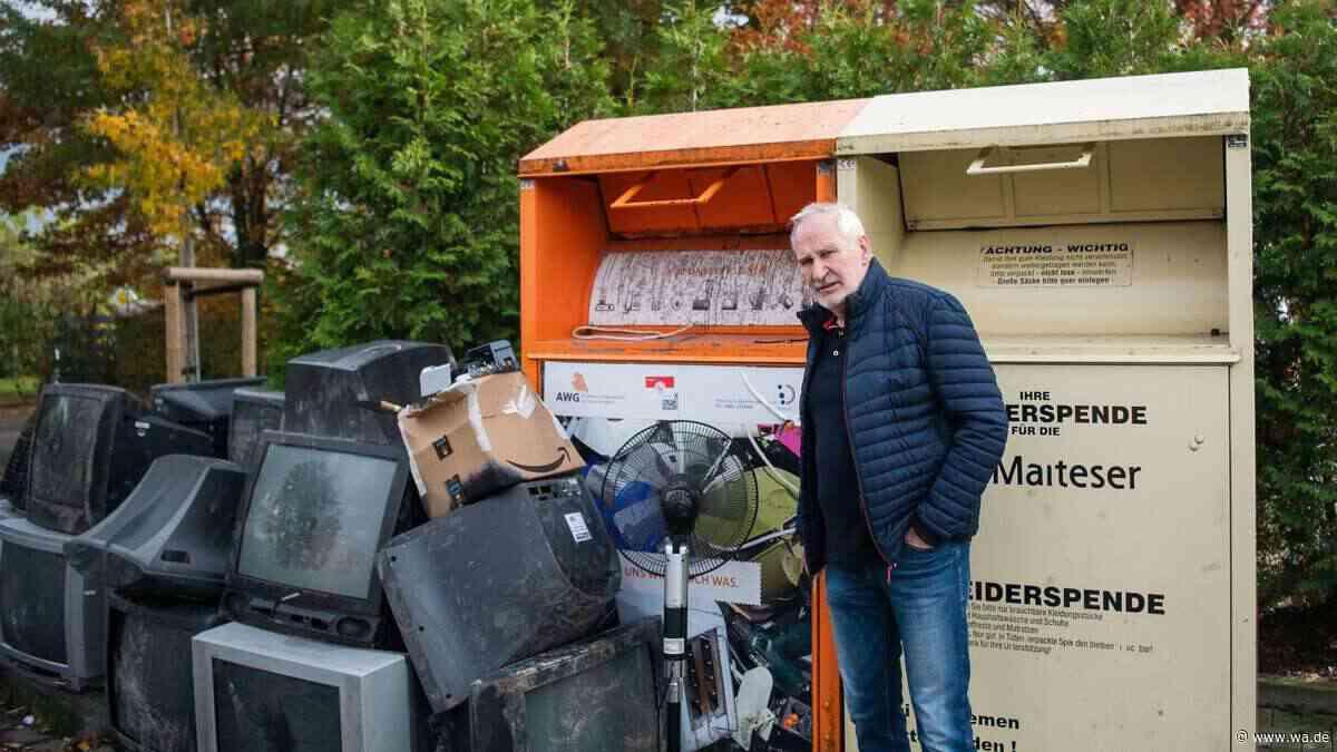 Umweltfrevel in Walstedde: An Sammelcontainern entsorgen Unbekannte immer wieder Elektroschrott - wa.de