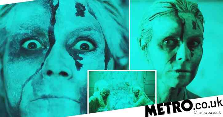 Heidi Klum makes her very own horror movie – complete with zombie children and body paint – for brilliant at-home Halloween