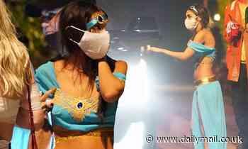 Chantel Jeffries showcases her washboard abs in sensational Jasmine costume for Halloween