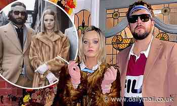 Laura Whitmore and Iain Stirling dress up as Gwyneth Paltrow and Luke Wilson in The Royal Tenenbaums