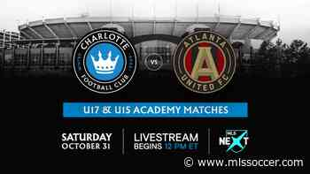 Charlotte FC to host Atlanta United FC for academy matches on Halloween