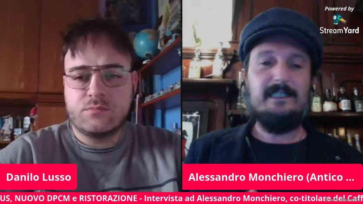 """Alessandro Monchiero dell'Antico Caffè Boglione (Bra): """"Si perde di vista la realtà se si pensa di individuare, solo nella nostra categoria, gli untori"""" (VIDEO) - www.ideawebtv.it - Quotidiano on line della provincia di Cuneo - IdeaWebTv"""