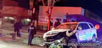 Ebrio choca y abandona su camioneta en Apizaco, Tlax. - Informativo ProyectoCINCO