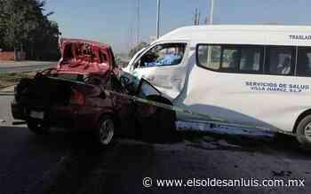 Fallecen dos personas en choque sobre carretera Matehuala - El Sol de San Luis