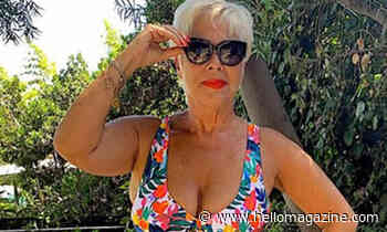 Denise Welch wows fans with throwback bikini snap