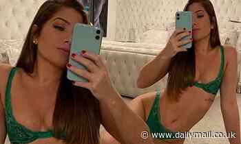 Hollyoaks star Nikki Sanderson showcases her sensational physique in green lingerie