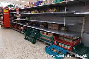 Long queues and empty shelves at Hull supermarkets