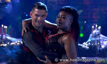 Clara Amfo suffers wardrobe malfunction during Strictly Come Dancing LIVE show