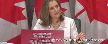 La ministre fédérale des Finances, Chrystia Freeland, s'est mise en isolement volontaire