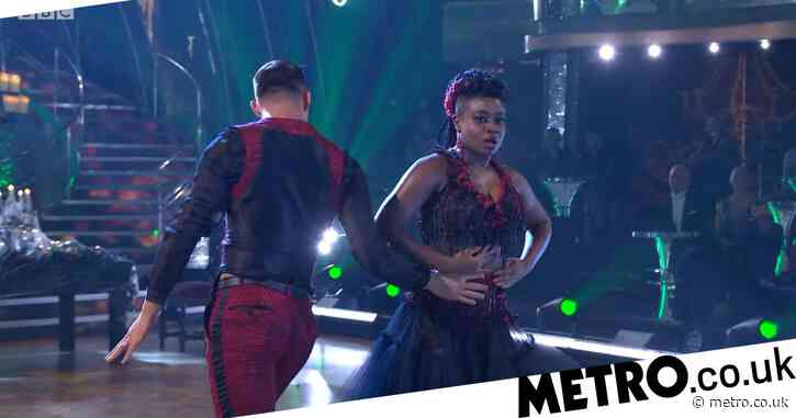 Strictly 2020: Clara Amfo suffers 'wardrobe malfunction' after almost tripping on dress