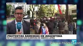 La vuelta al mundo: armenios protestan en Buenos Aires, Los Ángeles y Cataluña - FRANCE 24 Español