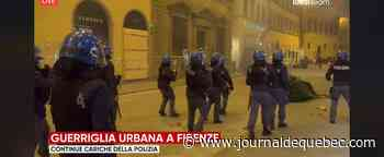COVID-19: heurts à Florence entre manifestants et police en Italie