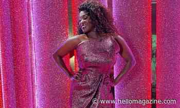 Motsi Mabuse dazzles on Strictly with rose gold dress and gorgeous curls