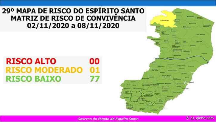 Ecoporanga segue como único município do ES em risco moderado para a Covid-19 - G1