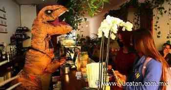 """""""Dinosaurio"""" atiende cafetería en San Luis Potosi - El Diario de Yucatán"""