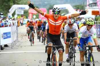Brayan Borda triunfa al sprint en Mesetas y Germán Darío Gómez es nuevo líder de la Vuelta de la Juventud - Revista Mundo Ciclistico