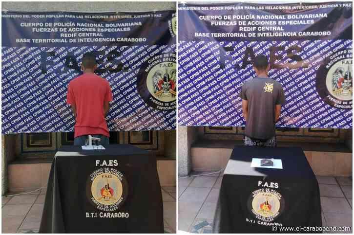 FAES Carabobo detuvo a dos presuntos delincuentes en Tocuyito - El Carabobeño