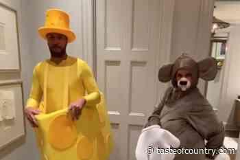 Luke Bryan + Wife Caroline's Couples Costume is a 'Cheesy' Halloween Masterpiece - Taste of Country