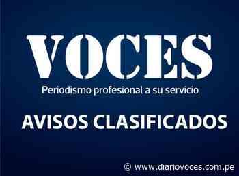 Avisos Clasificados: Sucesiones Intestadas Notario Alejandro Zarria Reynoso Notario de Saposoa - Diario Voces