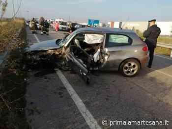 Incidente frontale a Cambiago FOTO - Prima la Martesana
