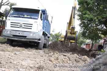 Avanzan las obras de pavimentos en Grand Bourg - Que Pasa Web