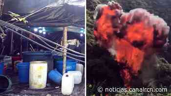 Destruyen mega laboratorio que producía cinco toneladas de cocaína al mes en Nariño - Noticias RCN