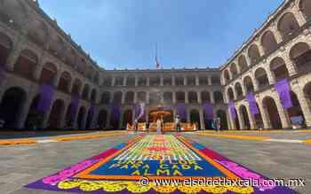Tapetes de Huamantla adornan la ofrenda del Palacio Nacional - El Sol de Tlaxcala