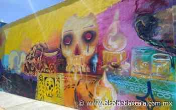 Honran a los muertos con mural, en Apizaco - El Sol de Tlaxcala
