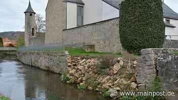 Heustreu: Ufermauer wird wieder aufgebaut - Main-Post