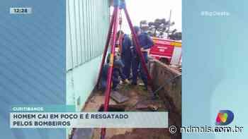 Homem cai em poço e é resgatado pelos bombeiros em Curitibanos - ND - Notícias