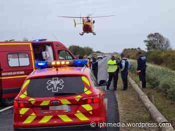 VILLENEUVE-LES-MAGUELONE : Carambolage, 6 blessés dont une victime héliportée en urgence absolue. - IPH Média