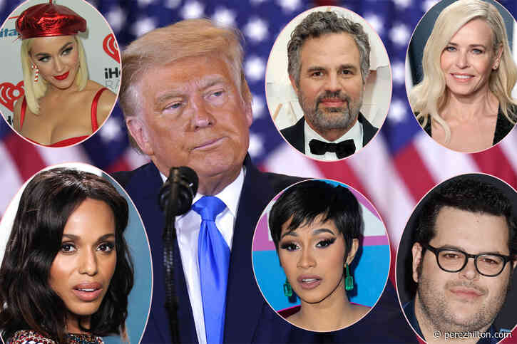 Celebs React To Election Night Antics After Trump Falsely Declares Victory: 'Count Every Vote'