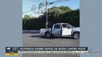 Motorista morre em Descalvado após bater caminhonete contra poste - G1